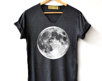 17113611d319 Full Moon Shirt - Moon Shirt Moon night T-Shirt High Quality Graphic T- Shirts Unisex