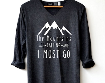 d549528bdfbce Mountains adventure Shirt - Hiking Shirt Adventure T-Shirt Long Sleeve High  Quality Graphic T-Shirts Unisex