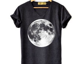 7312194c80456 Full Moon Shirt - Moon Shirt Moon night T-Shirt High Quality Graphic  T-Shirts Unisex