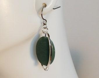 Marble Earrings, Stone Earrings, Green Earrings, Dangle Earrings, Drop Earrings, Stone Jewelry, Green Marble, Green Jewelry