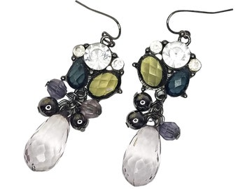 Beaded Rhinestone Earrings