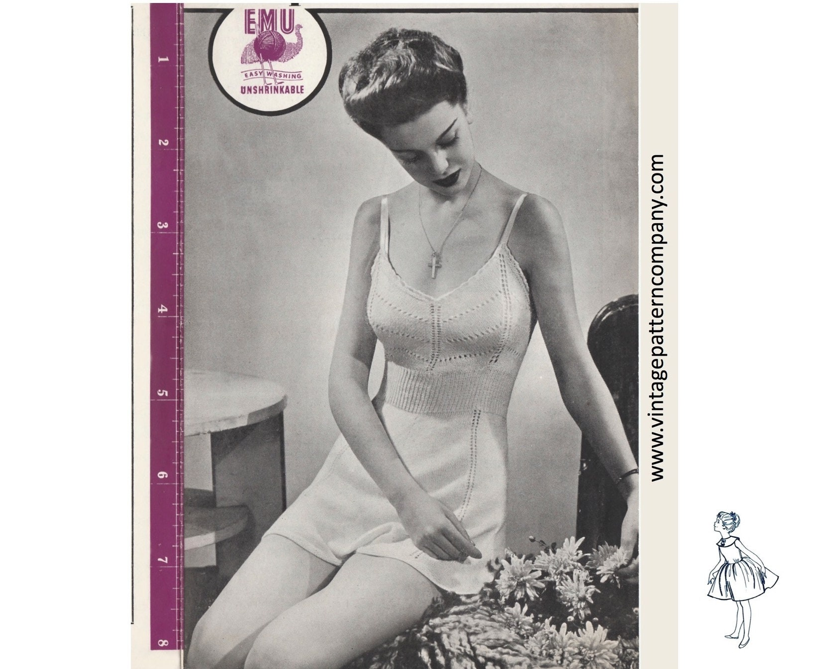 1940s Panties /& French Knickers Vintage Knitting Pattern