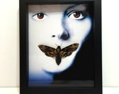 REAL Death Head Moth in Frame (Silence of the Lambs Poster) - Taxidermy, Insects, Display, Mounted, Framed, Moth Skull, Oddities