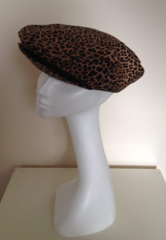 Cotton chintz leopard print baker boy cap hat with colourful  7066fd487ae