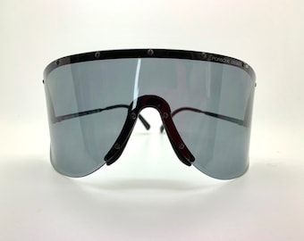 cdee7179fa9 VINTAGE 80s Carrera Porsche Design 5620 90 Sunglasses Rare BLACK Retro.  Wrap design