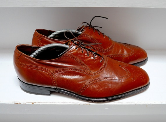 vtg 50s Florsheim wingtip shoes 11D