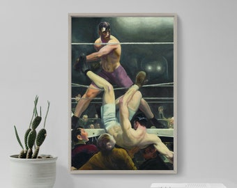 Fine Art Print//Poster George Bellows Dempsey and Firpo