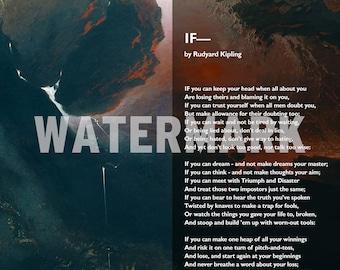 "Rudyard Kipling Poem - If - Limited ""Heaven & Hell"" Edition - Poster Original Art Print Photo - If--"