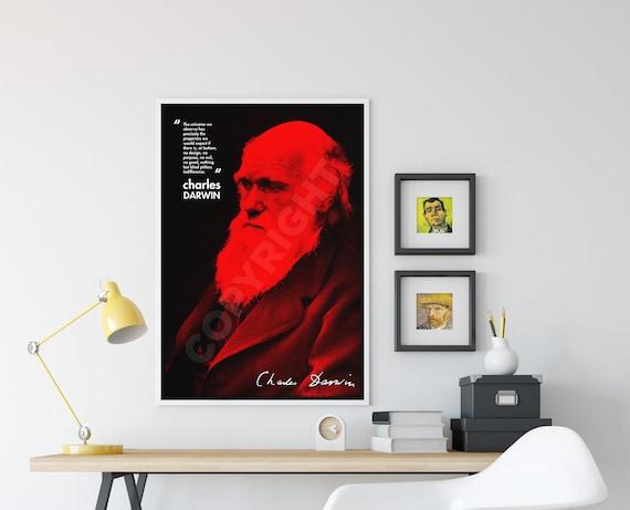 CHARLES DARWIN ART PHOTO PRINT POSTER GIFT EVOLUTION ATHEISM