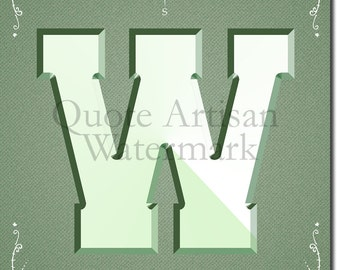 West - Compass Letter W - 12x8 Inch Glossy Art Photo Poster Print Gift - North South East