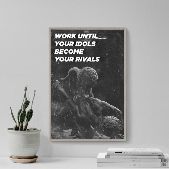 """Wrestling Motivation 02 /""""Work until.../"""" Poster Art Print Motivational"""
