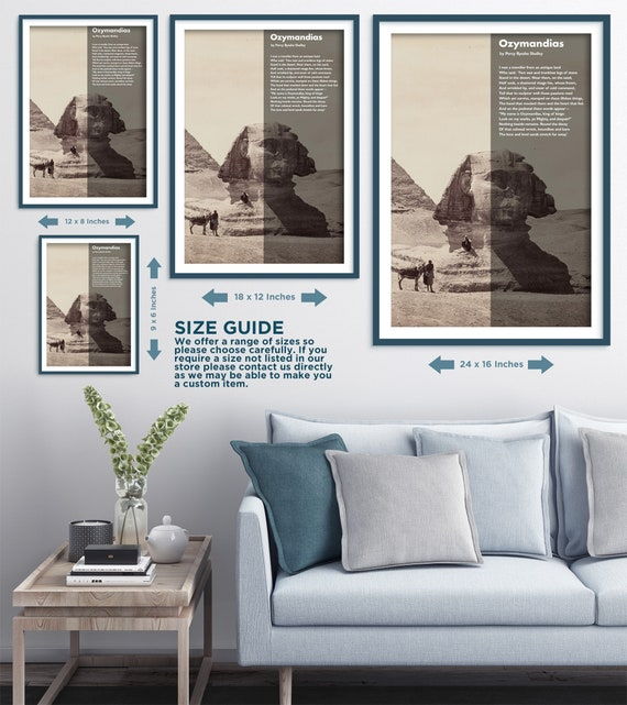 Enjoyable Ozymandias Poem By Percy Bysshe Shelley The Sphinx Art Print Poster Gift Photo Quote Wall Home Decor Egypt Pyramid Sand Desert Andrewgaddart Wooden Chair Designs For Living Room Andrewgaddartcom
