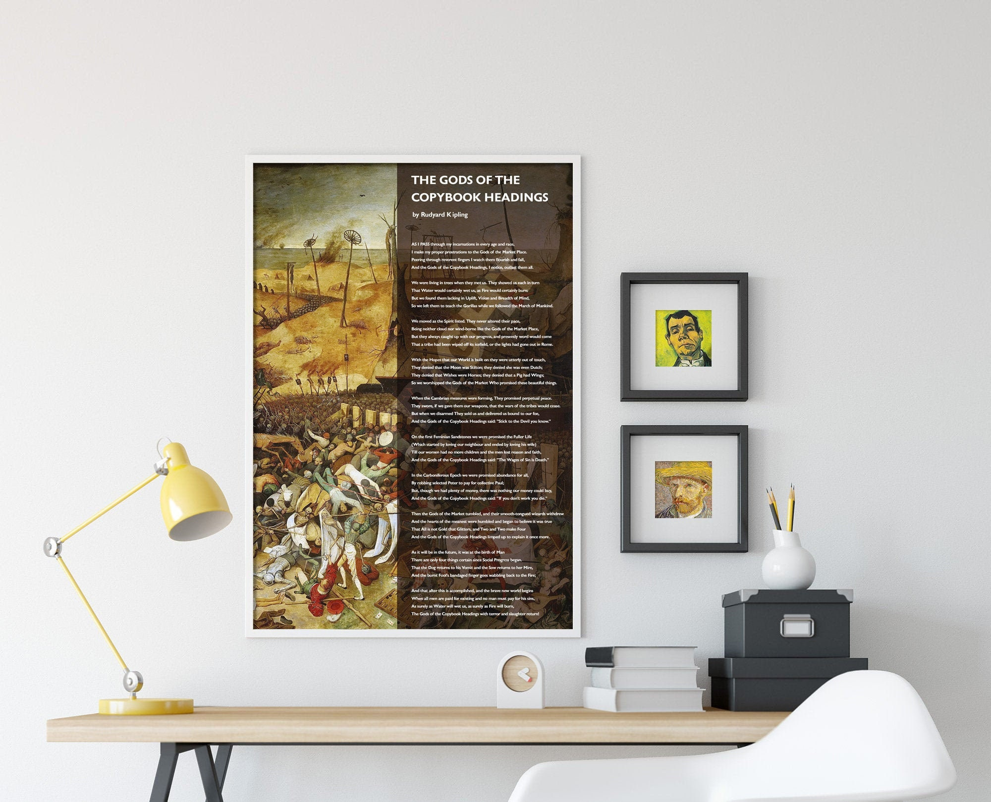 The Gods of the Copybook Headings Poem by Rudyard Kipling - Hieronymus  Bosch - Art Print Poster Gift Photo Quote Wall Home Decor Poetry
