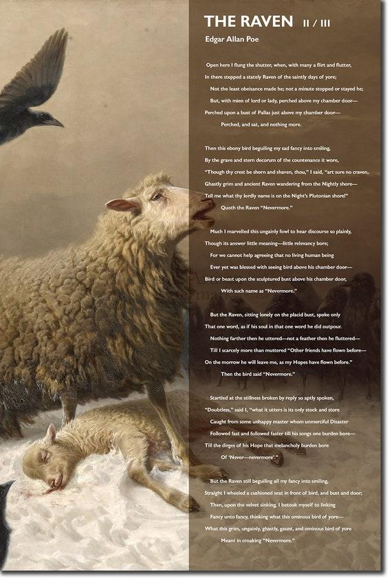 The Raven - Edgar Allan Poe Poem 2 of 3 Art Print Poster Photo Gift Allen
