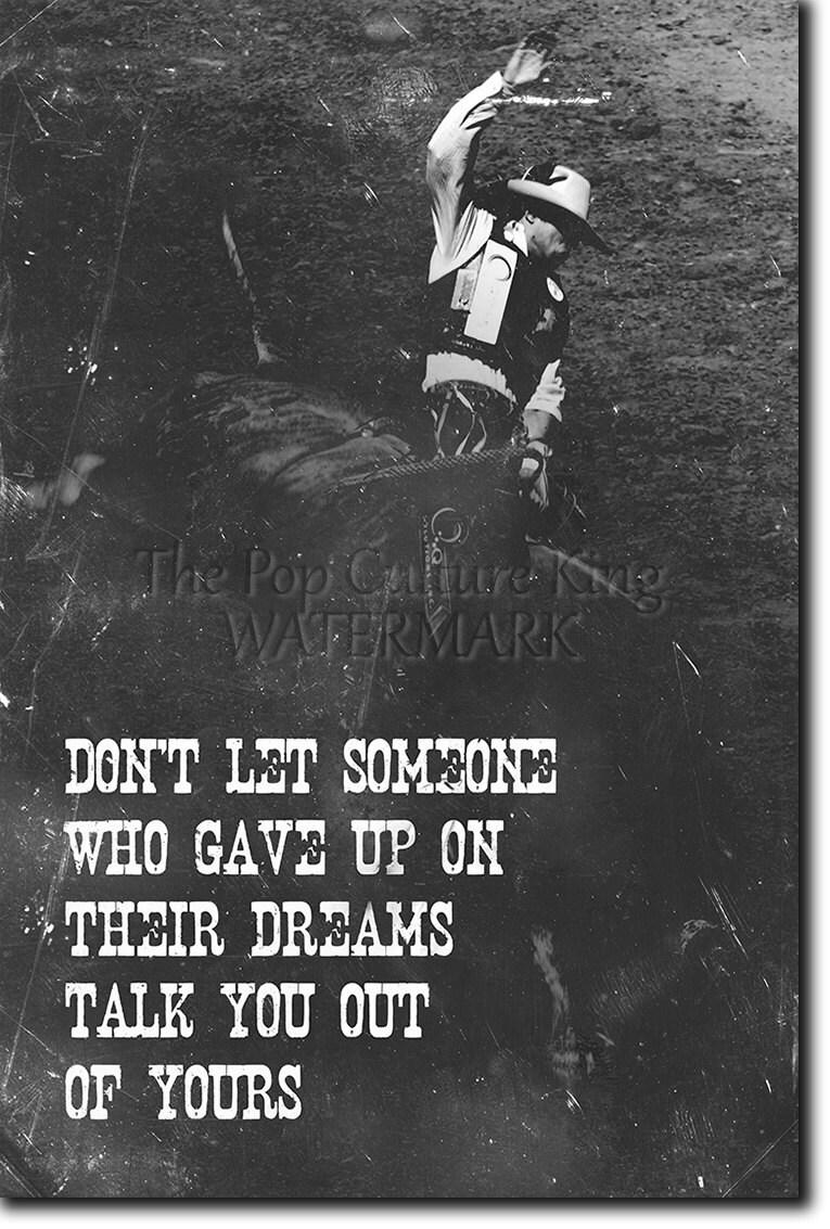 Rodeo de motivación impresión 06 Tus sueños... 12 | Etsy