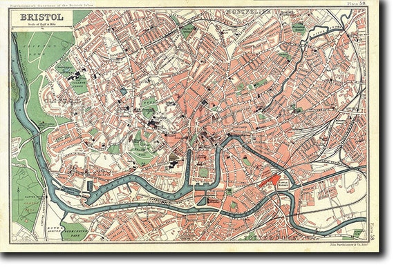Vintage Map of Coventry From 1749 Photo Print Poster Gift Old Ancient Historic