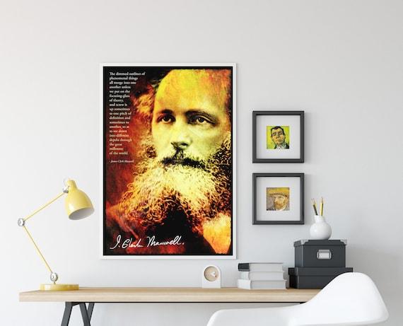 James Clerk Maxwell Arte Foto impresión Poster Regalo física citar