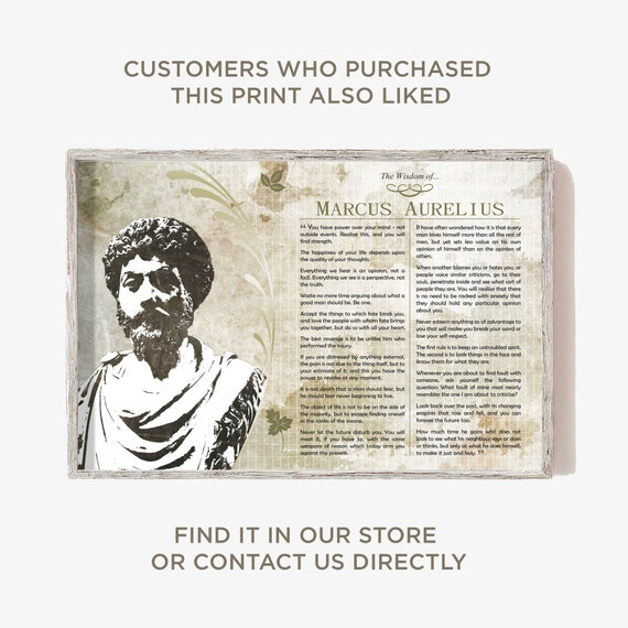The Wisdom of Marcus Aurelius Original Poster Featuring Iconic Quotes