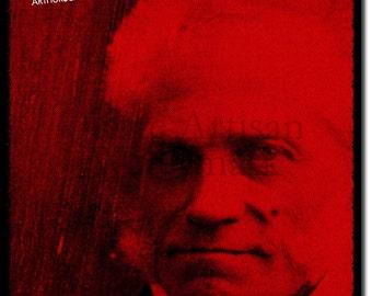 Arthur Schopenhauer Original Art Print - 12x8 Inch Photo Poster Gift  - Philosophy