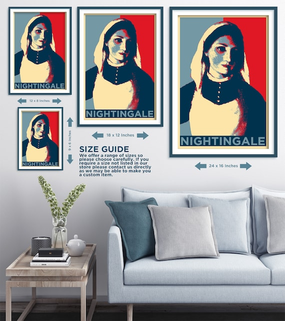 Florence Nightingale-Esperanza Poster-Foto Impresión Regalo De Arte Original