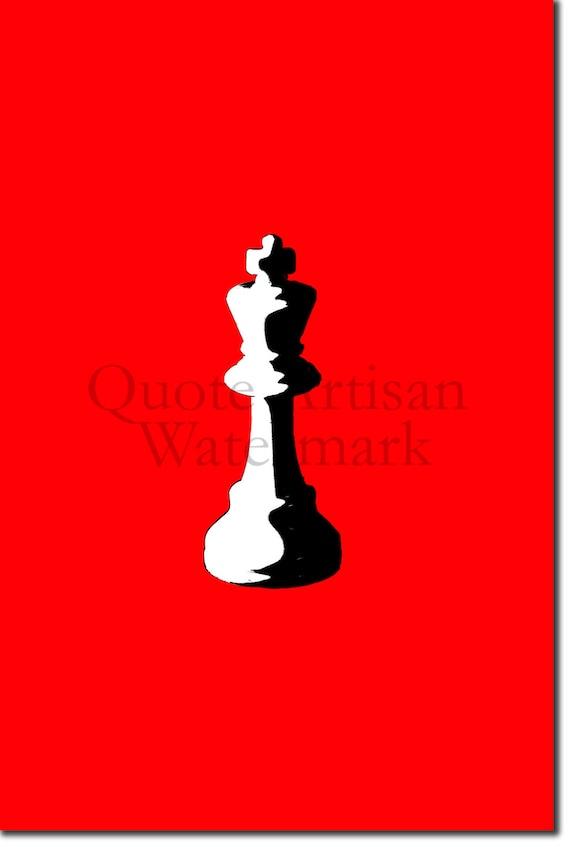 Photo Poster Gift Chessboard Chess Piece Queen Art Print /'Hope/'