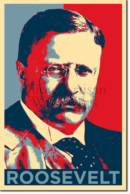 Theodore Roosevelt Original Art Print 12x8 Inch Photo Poster | Etsy