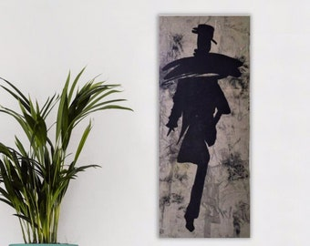 Set Of 2 Abstract Body Art Figurative Wall Hanging Stylized Etsy