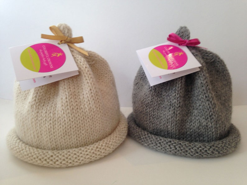 Softer-than-Cashmere Baby Alpaca Newborn Hat image 0