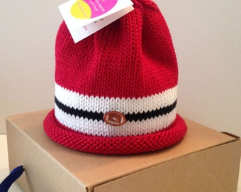 Red White and Black Baby Sports Beanie