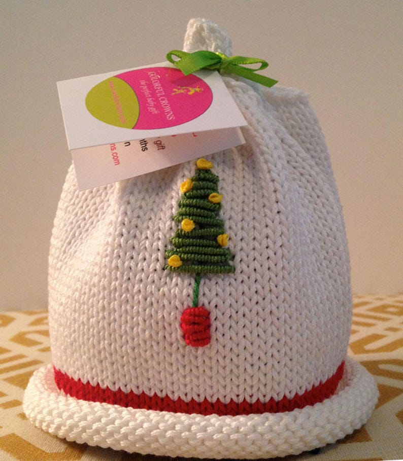 Christmas Beanie for the Newborn by Colorful Crowns image 0