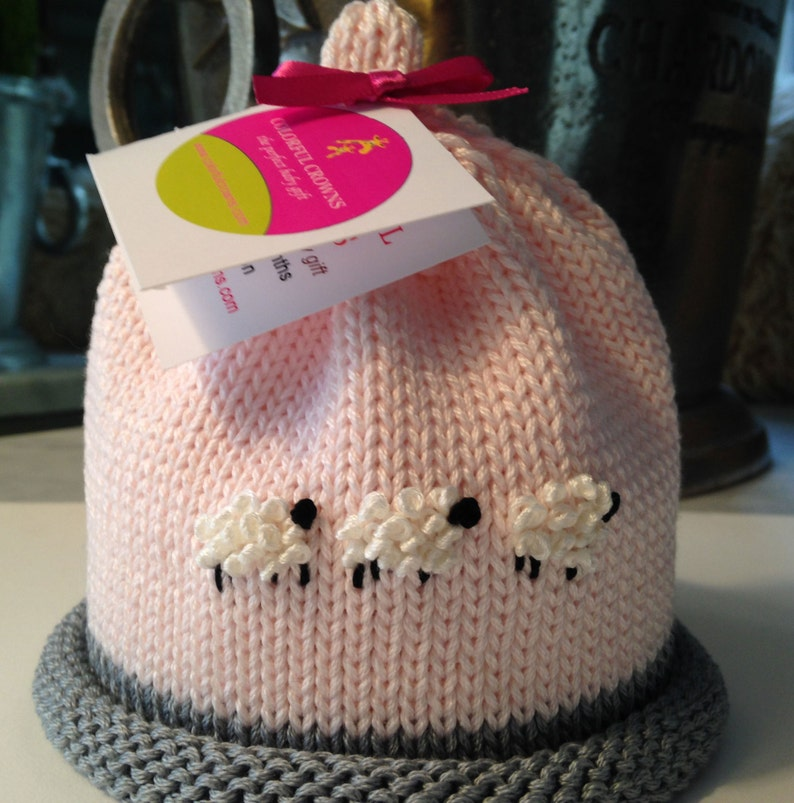 Baby Girl Newborn Sheep Hat Colorful Crowns image 0