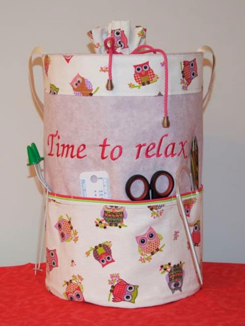 Knitting bag, handmade basket, knitting basket