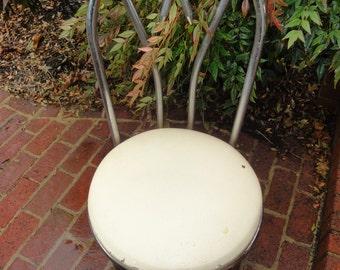 Ice Cream Parlor Chair/.Vintage Chrome Chair/Dinette Chair/Chrome Stool/Vintage Dinette Chair