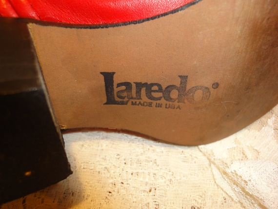 1980's Killer Red Laredo Cowgirl Boots - image 2