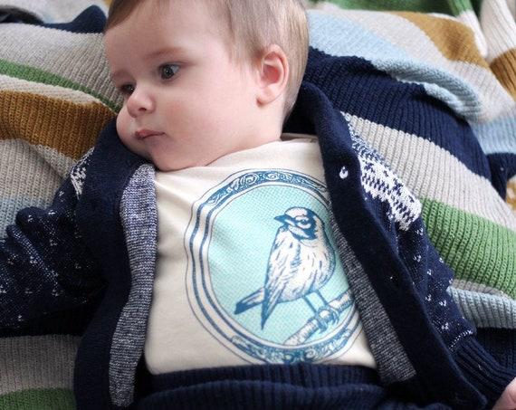 Bird Organic Cotton Bodysuit: Baby gift, baby shower, Bird