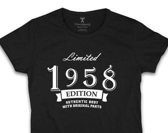 60th Birthday Shirt For Woman 1958 Limited Edition Gift Her Mom Mum Sister