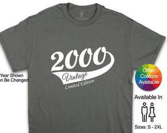 18th Birthday T Shirt Ideal Gift For A Son Brother Boyfriend Look No Further Boy 2000 Vintage Limited Edition