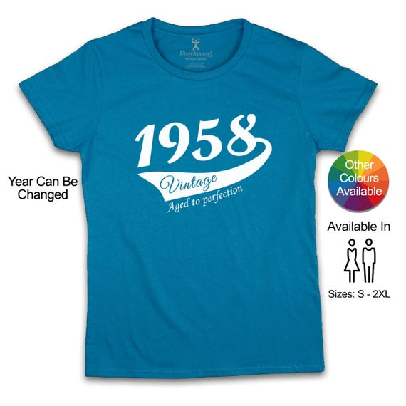 60th Birthday T Shirt For Woman 1958 Party