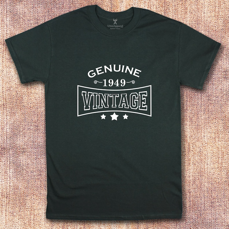 70th Birthday Shirt Genuine 1949 Vintage Printed T