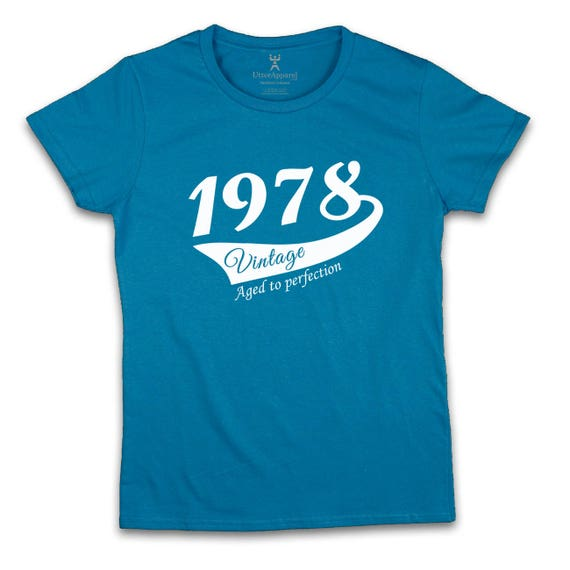40th Birthday Gift For Woman 1978 Vintage T Shirt Ideal