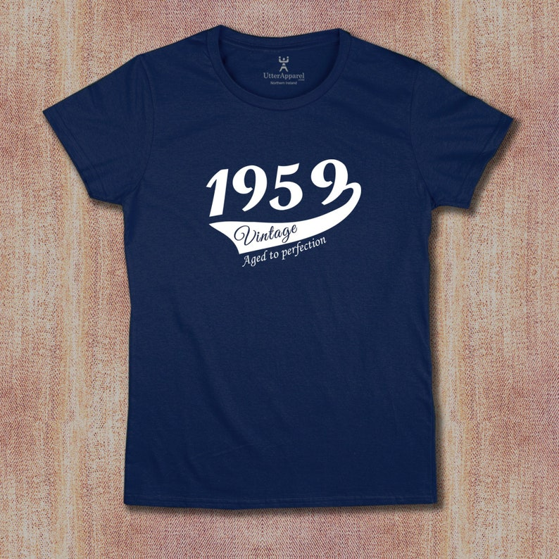 60th Birthday T Shirt For Woman 1959 Party