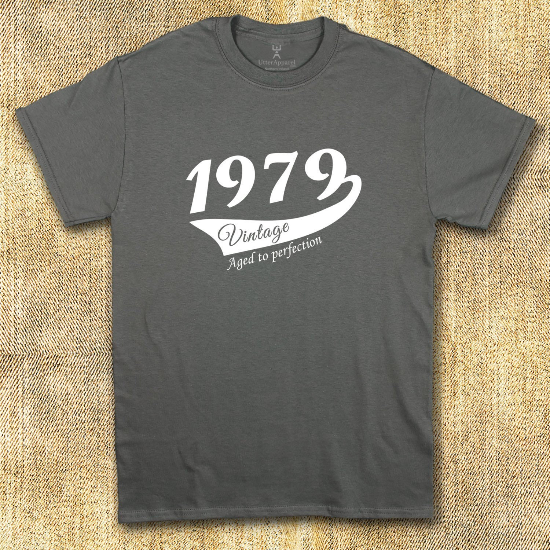 40e anniversaire cadeau pour homme mari 1979 Vintage collier ras du cou T-shirt cadeau mari homme frère oncle neveu papa père fils S à 2XL e46a3d