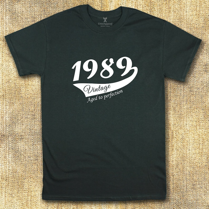 30th Birthday T Shirt With 1989 Vintage Aged To Perfection