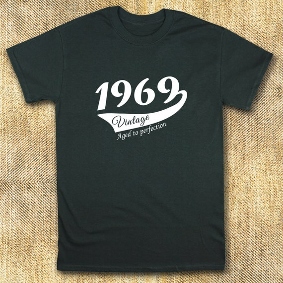 50th Birthday Gift For Man 1969 Vintage Crew Neck T Shirt