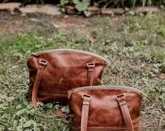 Cora Leather Bag- Whiskey Brown