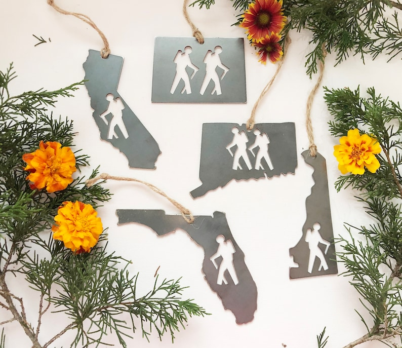 STATE HIKER Ornament made from Recycled Raw Steel Sustainable