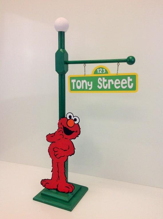 Big Bird Or Elmo Sesame Street Big Bird S Party Lamp Post Centerpiece Plaza Sesamo Abelardo