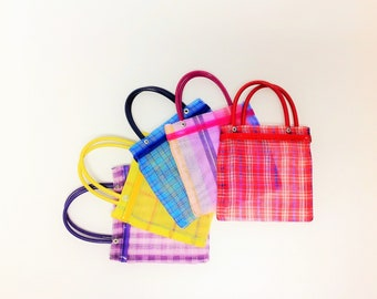 """Set of 10 Small Mexican Mercado Bags 6.5""""X6.5"""" Market Shopping Bag Small Mercado Bag Market Bag Small Tote Mexican Perfect for Candies"""