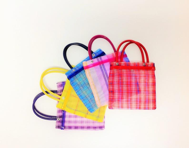Set of 10 Small Mexican Mercado Bags 6.5X6.5 image 0