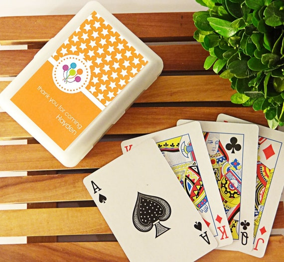 Personalized Kids Birthday Playing Cards Set Of 24